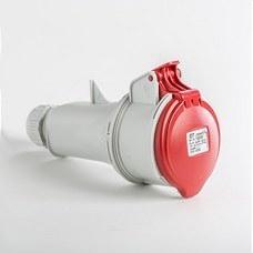 IDE 03203 Base aérea IP44 3 polos + neutro + toma tierra 380V 16A 6h de color rojo