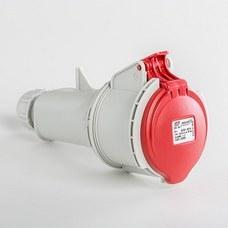 IDE 03205 Base aérea IP44 3 polos + tierra 380V 32A 6h de color rojo