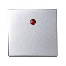 SIMON 73011-63 Tecla neutra pulsador con luminoso Simon 73 loft aluminio