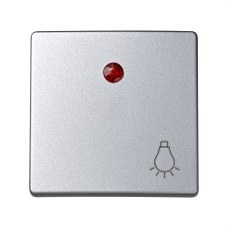 SIMON 73016-63 Tecla pulsador luz con luminoso Simon 73 loft aluminio