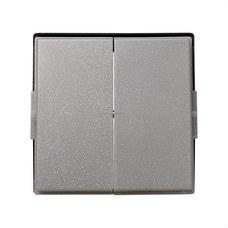 SIMON 2705026-063 Tecla doble Simon 27 scudo gris esmeril