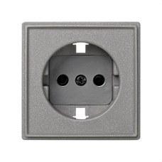 SIMON 2705041-063 Tapa enchufe Simon 27 scudo gris esmeril