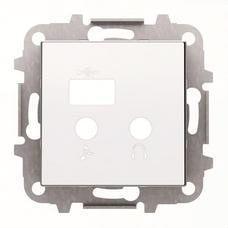 NIESSEN 8568.3 BL Tapa módulo entradas/salidas+USB Sky blanco