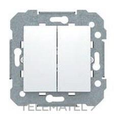 BJC 23509-X Interruptor doble con garras serie Viva en blanco