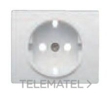 BJC 18724-MA Tapa base seguridad enchufe serie Iris en aluminio mercurio