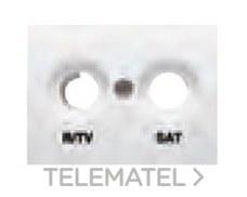 BJC 21320-GS Tapa R/TV-SAT serie Coral en gris sombra