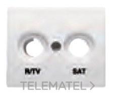 BJC 22320-BN Tapa toma R/TV-SAT serie Mega en bronce niebla
