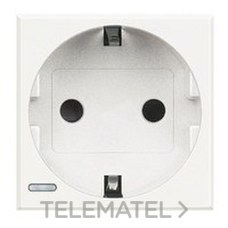 BTICINO HD4141 Base schuko 2P+T 16A 250V en color blanco