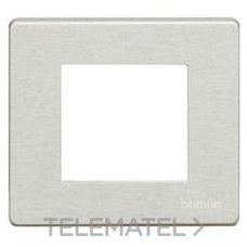 BTICINO 500/2A/R Placa para 2 mecanismos cuadrado MAGIC resina