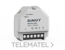 DINUY RE PLA DA1 Regulador 64 equipos DALI caja registro pulsador