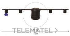 DURALAMP CLE2715-S Cable catenaria E27 15LH cuello corto blanco