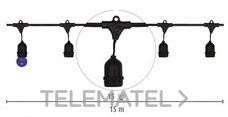 DURALAMP CLE2715 Cable catenaria E27 15LH suspendido negro