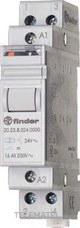 FINDER 202380240000 Telerruptor modular/desviador bipolar 1NA+1NC 16A SERIE 20, montaje carril 35mm, 24V AC con