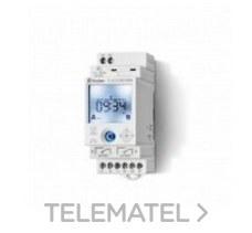 FINDER 126282300000 Interruptor horario semanal SERIE 12, NFC, ancho 35mm, 2 contactos conmutados 16A, 110/230V
