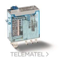 FINDER 466190120040 Mini-relé industrial conexión Faston 187, SERIE 46, 1 contacto conmutado, 16A, AgNi, 12V DC