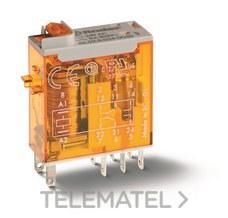 FINDER 465282300040 Mini-relé industrial con terminales de enchufar/soldar SERIE 46, 2 contactos conmutados, 8A