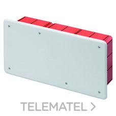 GEWISS GW48007 Caja de derivación y conexión con tapa blanca RAL9016 montaje con carril DIN para paredes d