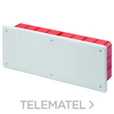 GEWISS GW48008 Caja de derivación y conexión con tapa blanca RAL9016 montaje con carril DIN para paredes d