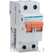 HAGER MN510V Interruptor automático MN 1P+N 10A curva-C