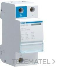 HAGER SPM215D Limitador sobretensión monobloc 1P+N 15kA clase II