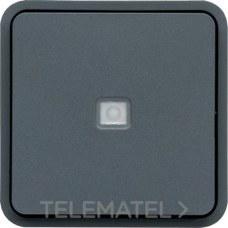 HAGER WNA021 Pulsador inversor estanca con indicador luminoso gris