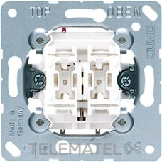 JUNG 535U Mecanismo doble pulsador unipolar 10AX 250V