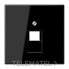 JUNG LS969-1UASW Placa central 1 toma teléfono UAE negro