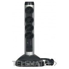 LEGRAND 694630 Base múltiple vertical carga inducción 4x2P + T