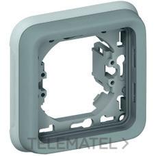 LEGRAND 069681 Caja empotrar 1 posición plexo gris