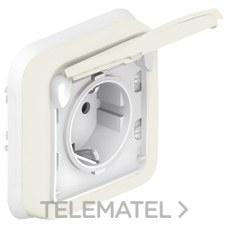 LEGRAND 069869 Mecanismo empotrar 2P + TT plexo blanco