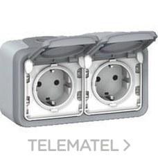 LEGRAND 069702 Mecanismo plexo doble 2P + TT horizontal
