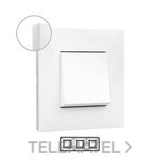 LEGRAND 741003 Placa VALENA NEXT con 3 elementos blanco