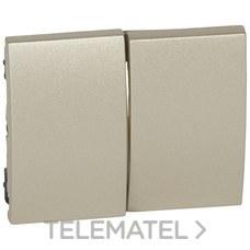 LEGRAND 771412 Tecla titanio para doble interruptor conmutador GALEA