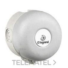 LEGRAND 041349 Timbre CL-II anticorrosión 220/250V diámetro 100mm