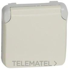 LEGRAND 069639 Toma 2P + TT plexo E/S blanco