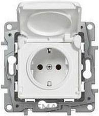 LEGRAND 664747 Toma NILOE 2P + TT IP44 automático protección inferior blanco
