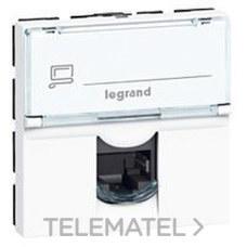 LEGRAND 076576 Toma RJ45 categoría 6A STP 2 módulos blanco