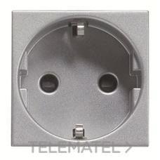NIESSEN N2288 PL Base de enchufe 2P+T lateral Schuko Zenit plata
