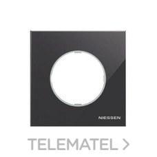 NIESSEN 8671 CN Marco de 1 elemento Skymoon cristal negro