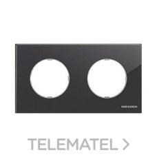 NIESSEN 8672 CN Marco de 2 elementos Skymoon cristal negro