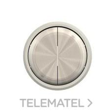 NIESSEN 8611 CR Tecla doble interruptor conmutador Skymoon cromo