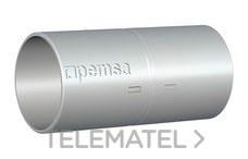PEMSA 55006032 Manguito enchufable para la conexión de tubos RL, DN32 de acero en acabado electrocincado E