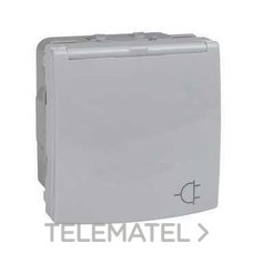 SCHNEIDER ELECTRIC MGU3.037.18TA Base 2P+TT lateral 10/16A placa articulada blanco polar