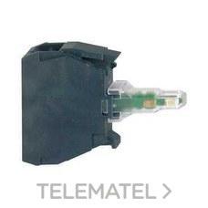 SCHNEIDER ELECTRIC ZBVBG3 Bloque luminoso LED 24-120V CA/CC verde