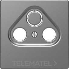 SCHNEIDER ELECTRIC MTN4123-6036 Carátula para mecanismo R-TV/SAT policarbonato mate aluminio barnizado D-LIFE montaje verti