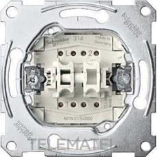 SCHNEIDER ELECTRIC MTN3115-0000 Doble interruptor 10A 250V ELEGANCE con 2 elementos basculantes