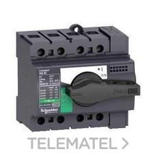 SCHNEIDER ELECTRIC 28901 Interruptor / seccionador COMPACT 40A 4P empotrable negro