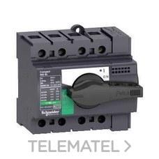 SCHNEIDER ELECTRIC 28903 Interruptor / seccionador COMPACT 63A 4P empotrable negro