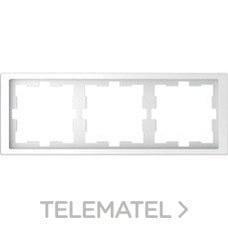 SCHNEIDER ELECTRIC MTN4030-6535 Marco de 3 elementos D-LIFE para montaje horizontal y vertical en policarbonato ártico bril