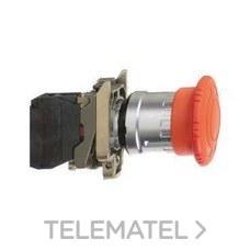 SCHNEIDER ELECTRIC XB4BS8445 Pulsador seta diámetro 40 girar rojo embellecedor metálico